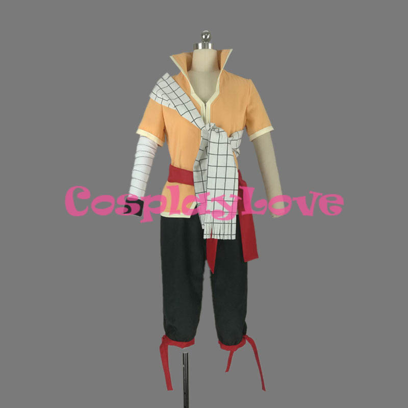 Fairy Tail Dragon Cry Natsu Dragneel Cosplay Costume High Quality Stock Cusotm Made For Halloween Christmas