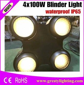 4 CÁI/LỐC Studio Blinder 4 Đầu 400 Wát trắng Ấm/Lạnh trắng COB Khán Giả LED Blinder Ánh Sáng DMX Stage Lighting chiếu sáng IP65