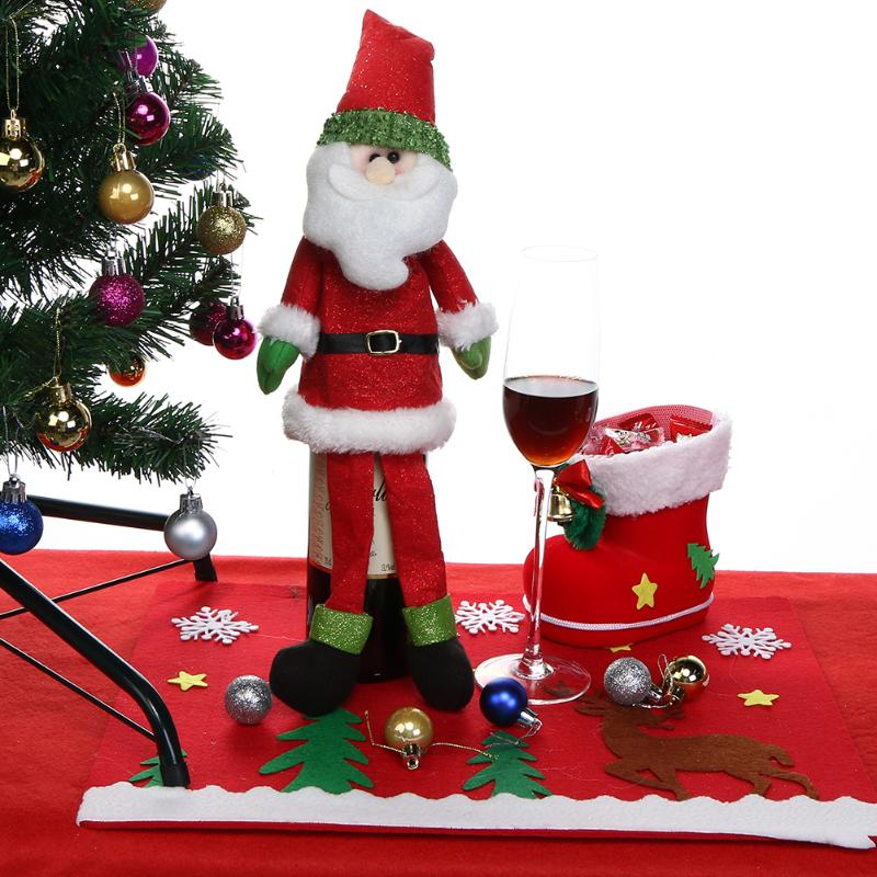 Cartoon wine bottle cover christmas hanging ornament table - App that puts santa in your living room ...