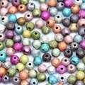 Acrylic Ball Mixed/Silver/Gold/Rainbow Stardust 4/6/8/10/12/20mm Spacer Beads Charms Findings For Jewelry Making Craft DIY