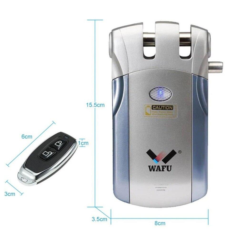 Купить с кэшбэком Wafu WF-018 Electric Door Lock Wireless Control With Remote Control Open & Close Smart Lock Home Security Door Easy Installing