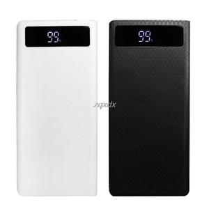 Image 3 - Portable Slim Dual USB LED Light 8x 18650 Battery DIY Power Bank Box Holder Case For Mobile Phone Whosale&Dropship