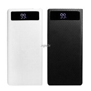 Image 3 - Portable Slim Dual Usb Led Licht 8X18650 Batterij Diy Power Bank Box Holder Case Voor Mobiele Telefoon Rental & Dropship