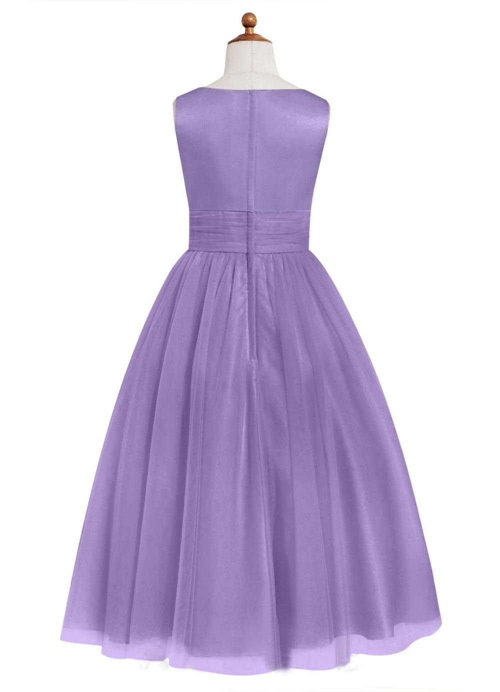 Cuadro verdadero Púrpura Flor de Té de Longitud dama de Honor Junior ...