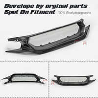 JS Style Carbon Fiber Front Grill Fibre Bumper Grill Glossy Finish Grills For Honda Civic 2017+ Type R FK8 (also fit FC1 FK7)