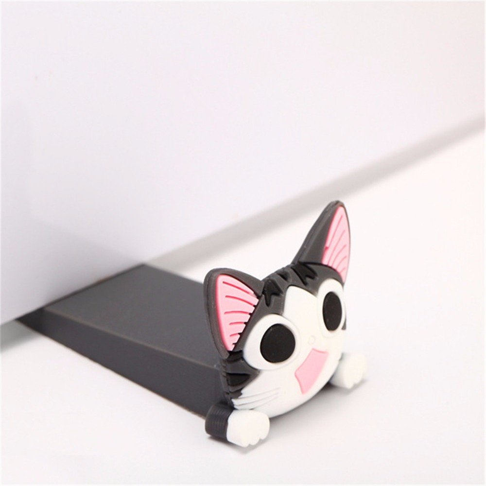 1Pc Cartoon Baby Satefy Door Stopper Children Kids Silicone Holder Lock Safety Animal Finger Protection Corner Guards