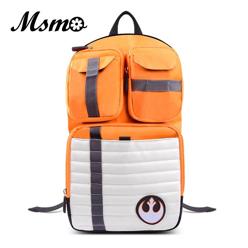MSMO HOT New Star Wars Backpack Rebels Logo Alliance Icon Teenager School Bag Wholesale Children Schoolbag High College Daypack