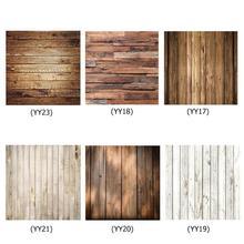 60x60cm rétro bois conseil Texture photographie fond toile de fond tissu Studio vidéo Photo arrière plans accessoires pour la nourriture
