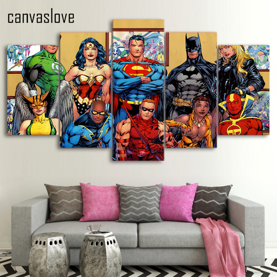 Superheroes Bedroom Popular Superhero Canvas Buy Cheap Superhero Canvas Lots From