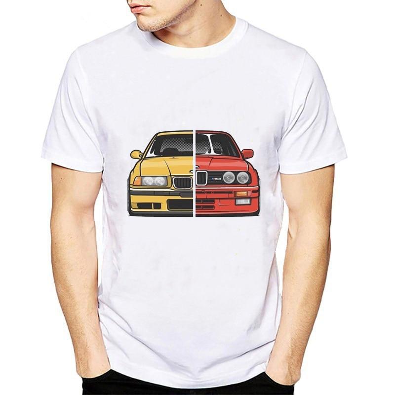 Cool Cars T shirt Men e30 e36 e46 e82 e92 printed summer tops fashion White short sleeve tee shirt homme camisetas hombre tshirt