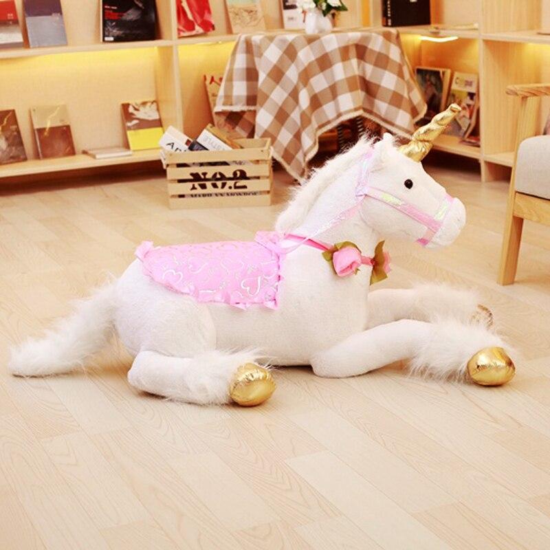 Precioso unicornio de 90 cm de felpa juguetes gigante de peluche unicornio Animal suave muñeca niños habitación decoración bebé foto accesorios para niña niño regalo-in Peluches y muñecos de peluche from Juguetes y pasatiempos    3