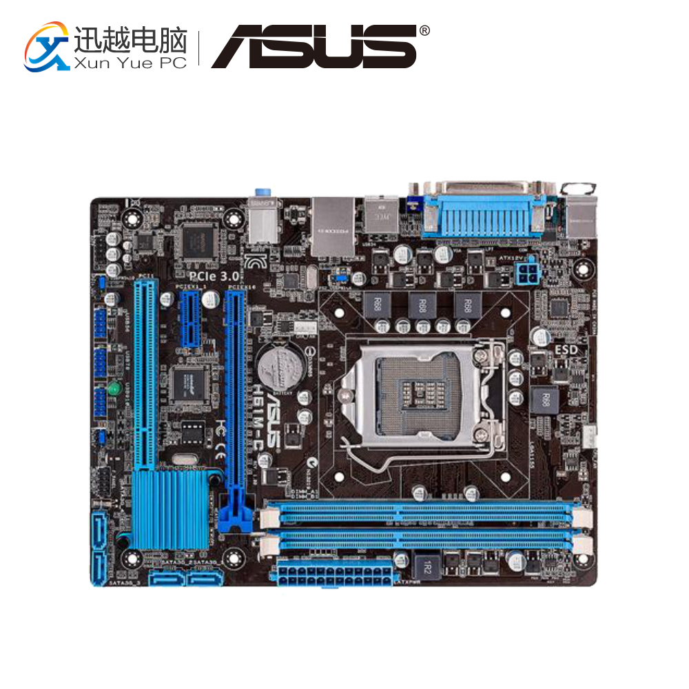 Asus H61M-C Desktop Motherboard H61 Socket LGA 1155 i3 i5 i7 DDR3 16G Micro-ATX On Sale все цены