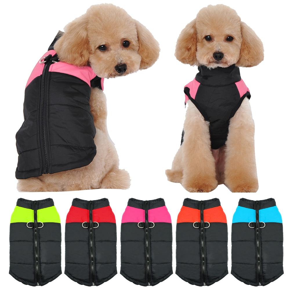 Vestiti del cane Per Le Piccole e Medie Cani di Taglia Grande Pug Bulldog Francese di Inverno Dell'animale Domestico Cucciolo di Chihuahua Cappotto Giacca Impermeabile Roupa Cachorro Pet