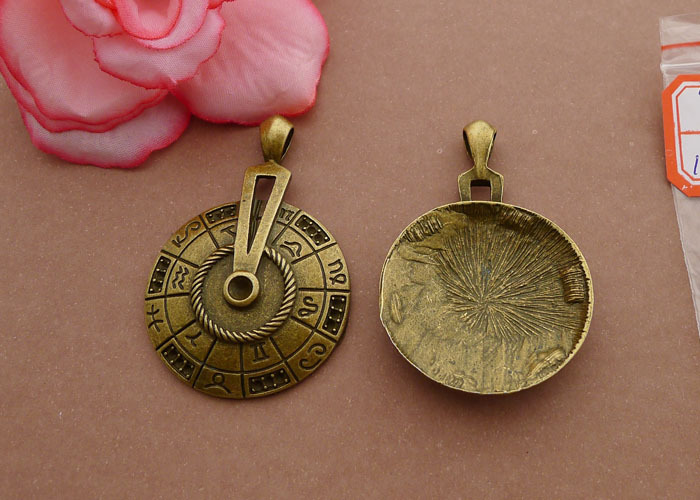Free Shipping 2 colors maya culture compass charm good pendant 5pcs 52 35mm antique bronze fit