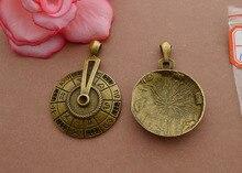 Бесплатная Доставка 2 цветов майя культуры компас шарм хороший кулон 5 шт. 52*35 мм античная бронза fit браслет diy изготовления ювелирных изделий
