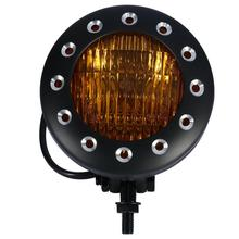 купить Motorcycle Black Universal Headlight Head Light Lamp For Harley Bobber Cafe racer Chopper Custom Aluminum дешево