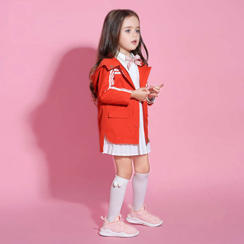 2017 Little Baby Girl Toddlers Autumn Sport Jacket Windbreaker Coat for Kid