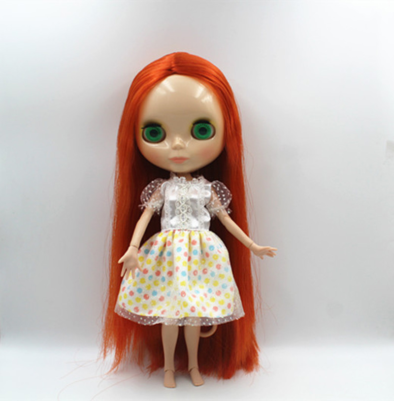 Free Shipping BJD joint RBL-370J DIY Nude Blyth doll birthday gift for girl 4 colour big eyes dolls with beautiful Hair cute toy luodoll bjd doll sd doll 1 4 girl luts hodoo bjd doll gift free eyes free make up
