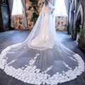 High-End 350*300cm Amazing Cathedral Long Wedding Veils Long Special Special Bridal Veil Wedding Accessories Bride Wedding Veil