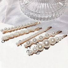 5pcs/lot Fashion Imitation Pearl Hairpin Big Small Beads Hair Clips  for women Simple Jewelry Barrettes Wholesale