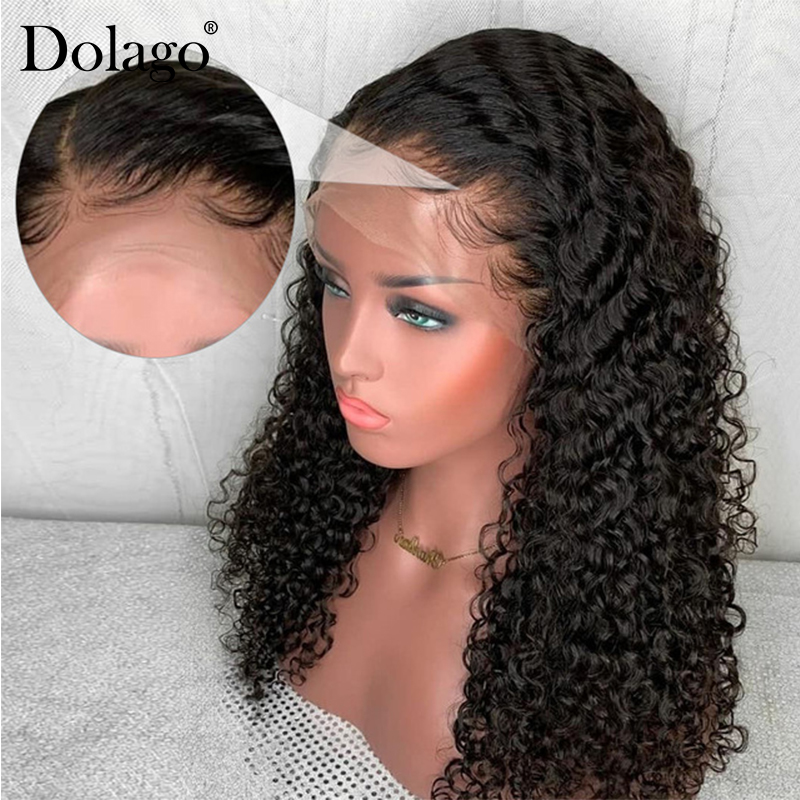 250 Density Loose Curly Lace Front Human Hair Wigs For Women Brazilian Bob Lace Frontal Wig