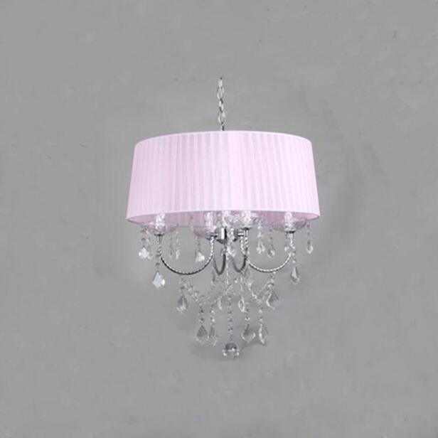 Осветительная лампа, подвесные светильники, светодиодная Хрустальная спальня, благородная Роскошная лампа, дымоход e14, лампа, стеклянная основа, светодиодная лампа, модный абажур XU - Цвет корпуса: pink