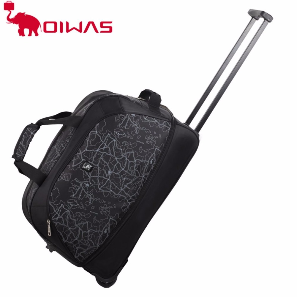 OIWAS OCL8019 Trolley Rubber Wheel Luggage Rolling Travel Hand Held Bags Women Men Causal Waterproof Nylon Large Capacity Bag hand trolley part ivory nylon single wheel fixed plate caster 5