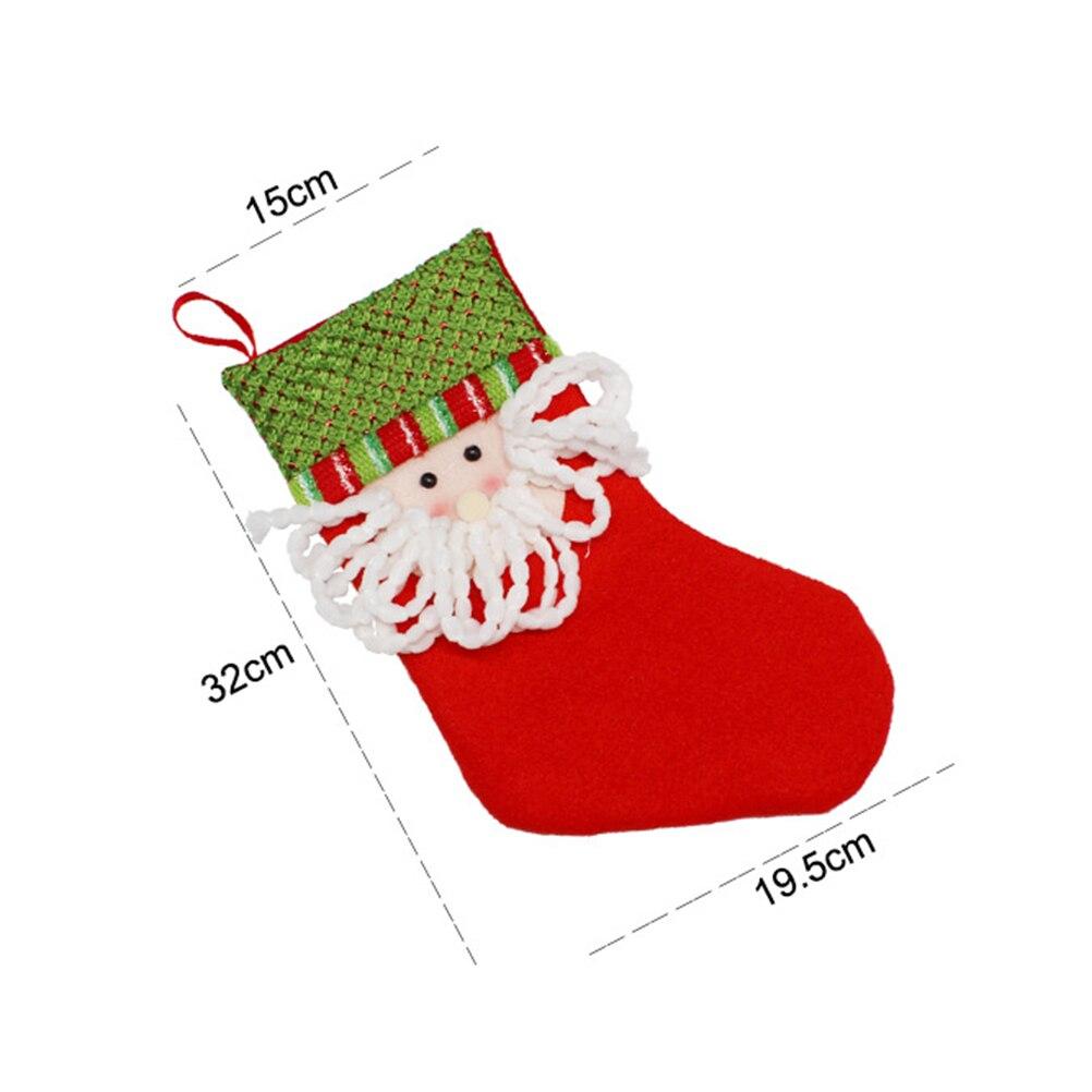 1 STÜCK Weihnachtssocke Bunte Weihnachten schneemann alte mann elch ...
