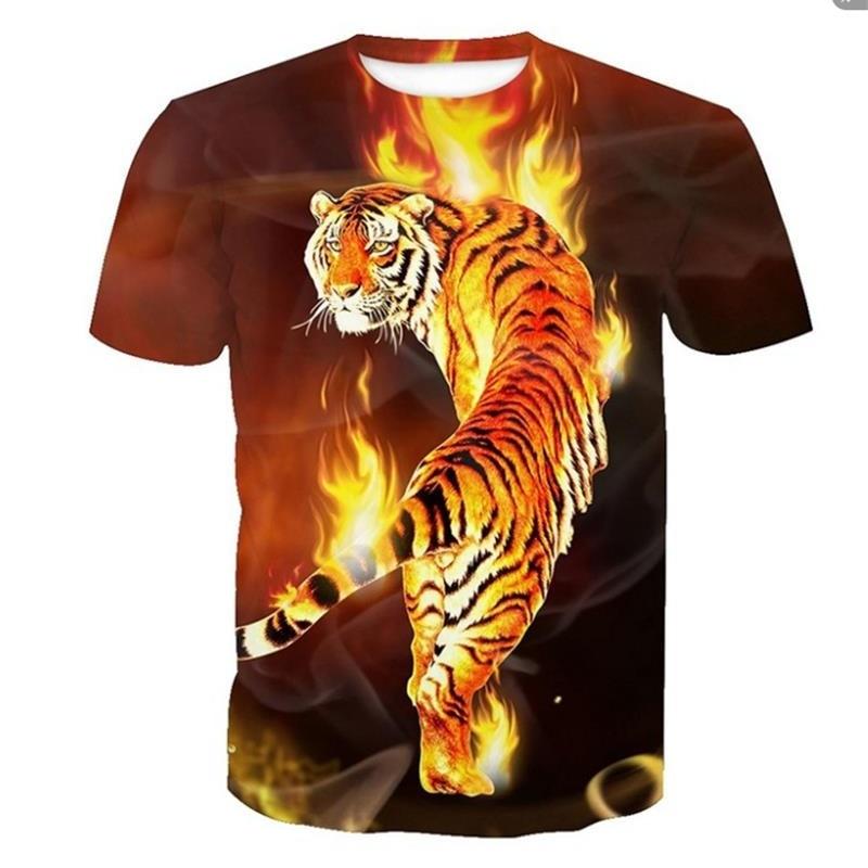 Neue Mode 2018 Neue Tiger T-shirt Tier 3d T-shirt Punk Print Shirts Gothic Mode Herren Kleidung Lustige T-shirt Männer Kurzarm Schädel T Kann Wiederholt Umgeformt Werden. Herrenbekleidung & Zubehör
