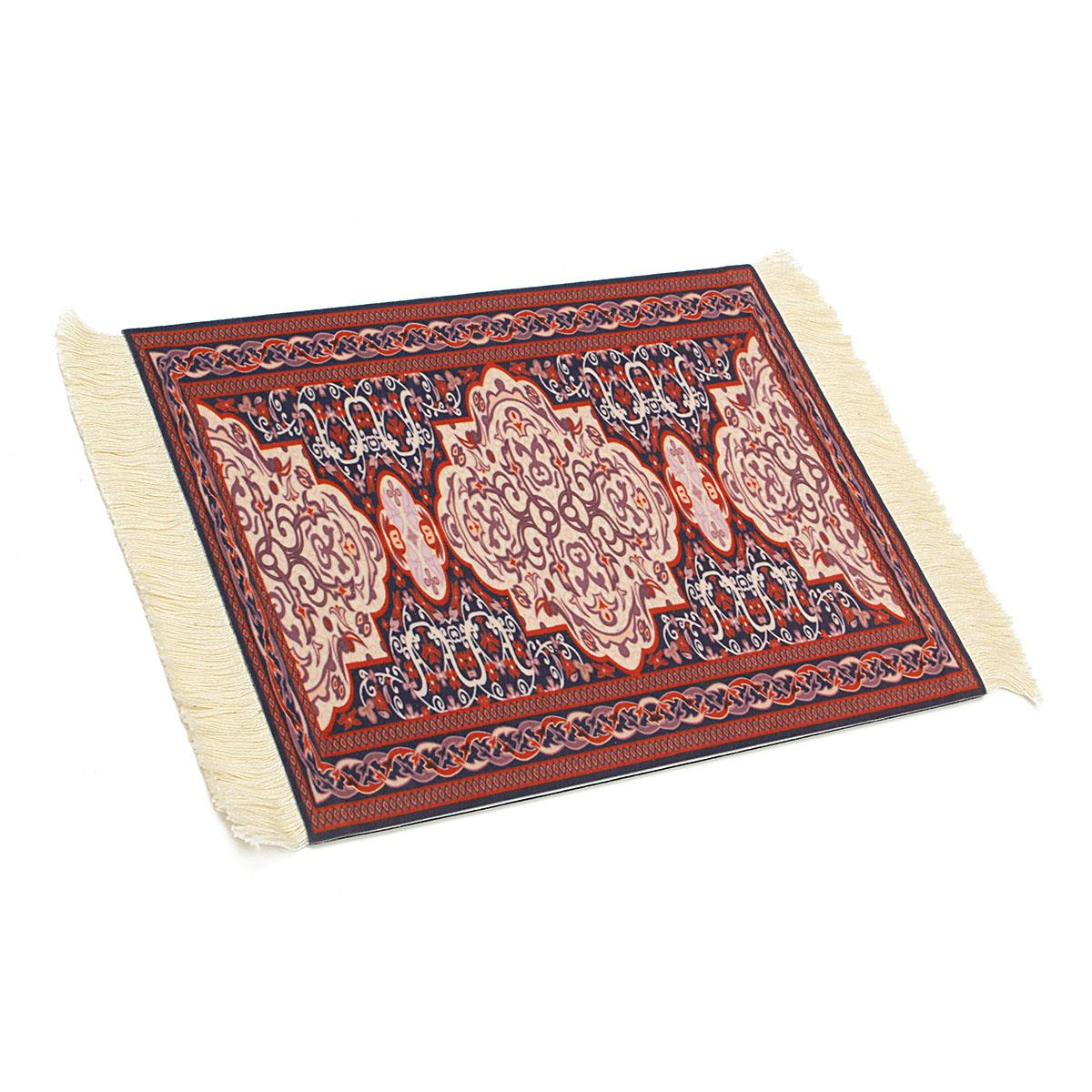 Vintage Persian Style Mousemat Mini Woven Rug Mouse Pad Carpet With Fringe  Placemat Home Office Decorative Tools Houseware In Mat From Home U0026 Garden  On ...