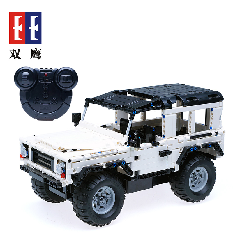 New Technology Remote Control Car Blocks Compatible LegoINGLYS Technic Land Rover Vehicle SUV Assembly Educational Toys For Kids 2 in 1 rc car compatible legoinglys radio technical vehicle green suv control blocks assembled blocks children toys gift