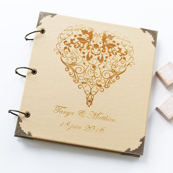 Personalised Wedding Guest Gifts : Custom Guest Book Personalized Customized custom design wedding gift ...