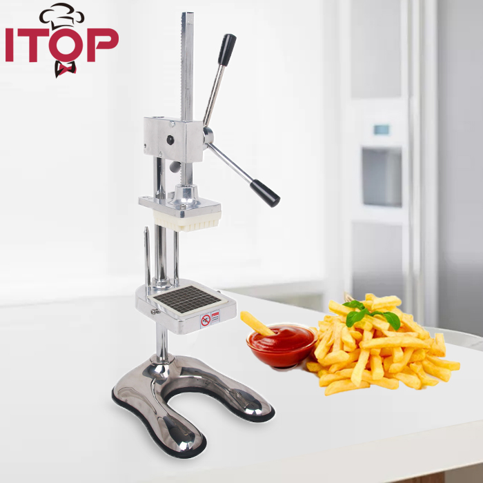 купить ITOP Potato Chips Cutter Potato Slicer Carrot Vegetable Cutting Machine French Fries Vegetable Fruit Tools 3 Blades по цене 8419.87 рублей