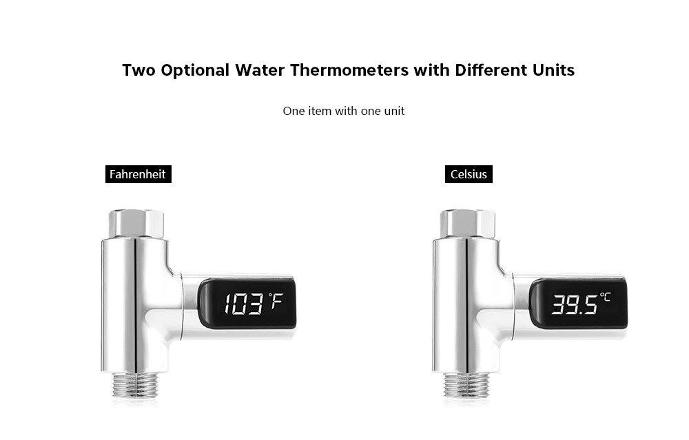 LED Display Water Thermometer For Bathroom Showers And Kitchen Kitchen Taps Fahrenheit And Celsius