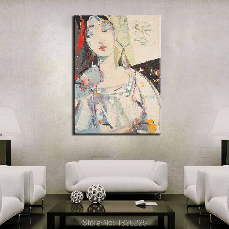 aliexpress : buy abstract oil painting chinese woman portrait