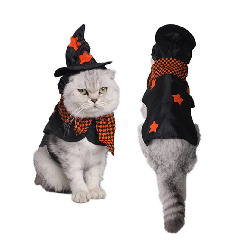 Funny Small Cats Clothes Dogs Clothing Witch Halloween For