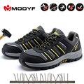 Modyf Мужская Черная защитная обувь для мужчин  уличная Рабочая обувь со стальным носком  Повседневная защитная обувь