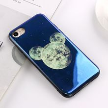 JAMULAR Electroplate Blue Light Soft Phone Cover for iPhone