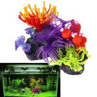 Resina Coral Artificial Do Aquário Do Tanque de Peixes Plantas Artificiais Do Aquário Subaquático Coral Ornamentos Pet Fornecimentos