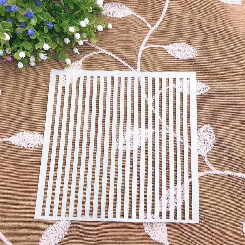 Dòng sổ lưu niệm stencils phun khuôn nhựa lá chắn TỰ LÀM bánh rỗng Chỉnh Trang in ấn ren thước valentine