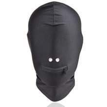 Bdsm Elastic Sex Blindfold Hood Mask Headgear Bondage Slave In Adult Games For Couples , Fetish Sex Toys For Women And Men