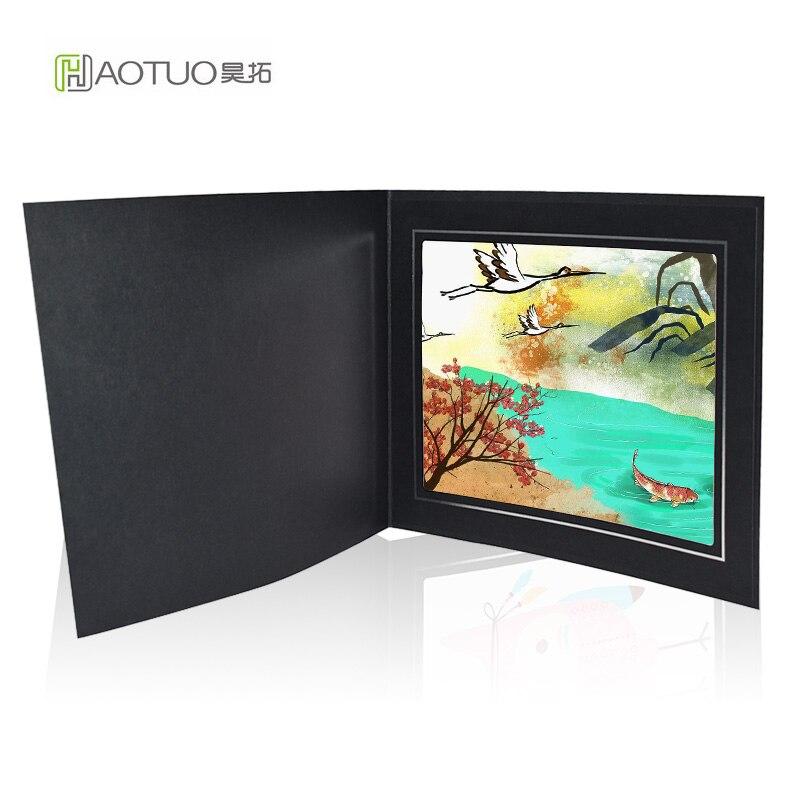 HAOTUO Photo Folders Black Graduation Cardboard Photo Frame Large ...