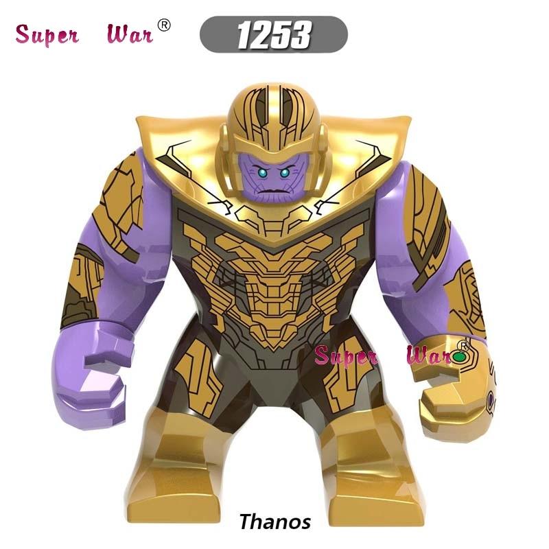 Single Marvel Avengers Endgame Big size Thanos Hulk Iron Man Spiderman Thor Captain Marvel building blocks Kid Toys