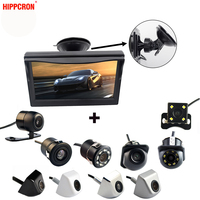 2In1 Car Parking System Kit 5 Sucker Bracket Color Monitor 5 Inch TFT LCD HD Display Screen + Waterproof Rear View Camera