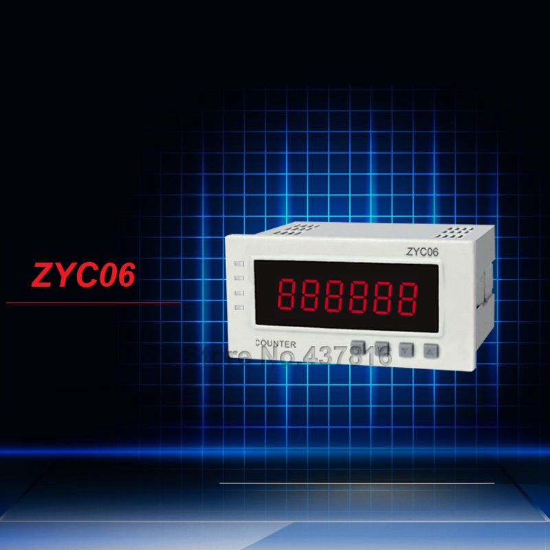6-digit LCD Digital Display Counters Electronic Cumulative Counter Power off Memory up to 10years  ZYC06 yellow case 5 digit lcd electronic finger counter hand tally
