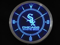 nc0553 Chicago White Sox Neon Sign LED Wall Clock