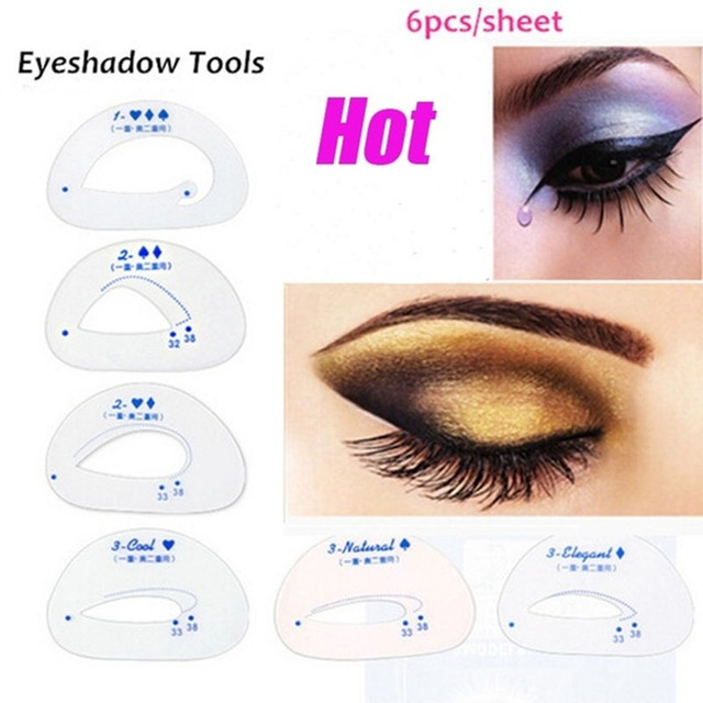 Pcs Eyeshadow Model Eyeliner Grooming Shaping Assistant Template - Eyeshadow template