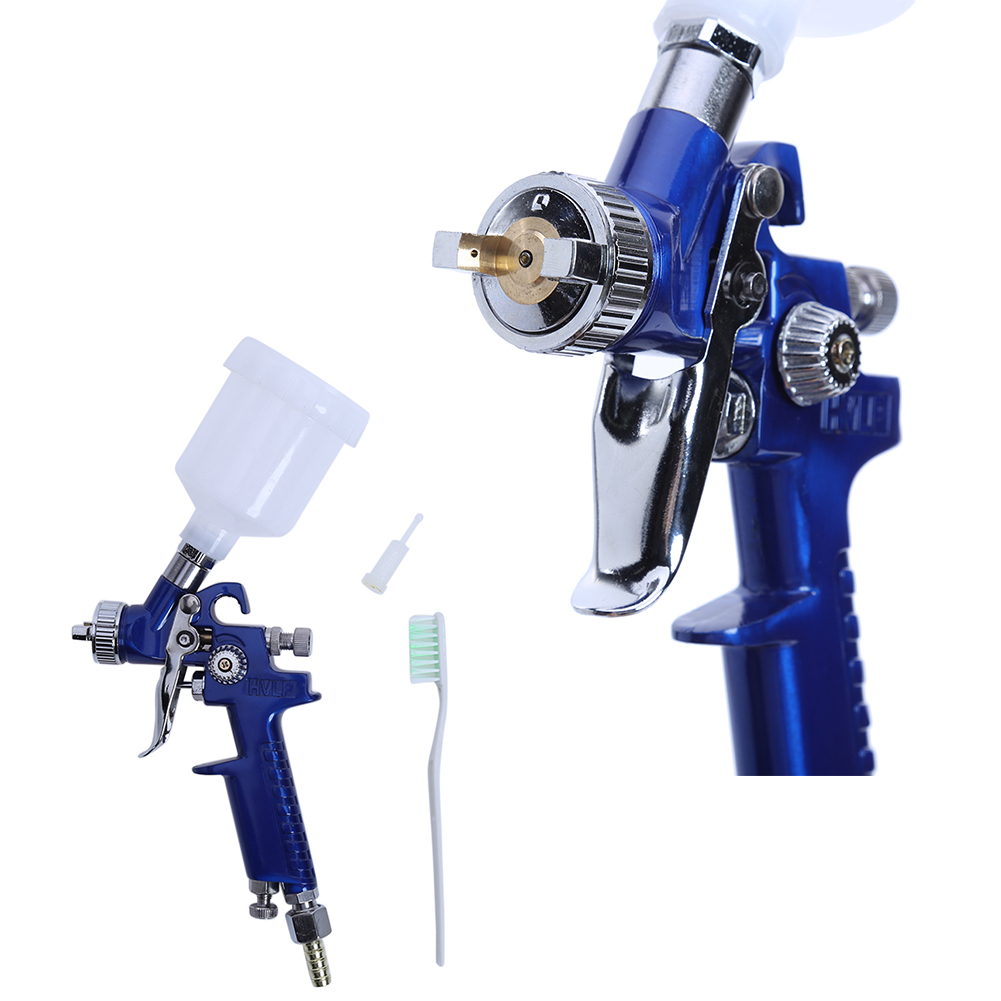 цена на H-2000 0.8MM/1.0MM Nozzle Mini Air Paint Spray Gun Airbrush Professional HVLP Spray Gun for Painting Cars Aerograph Power Tool