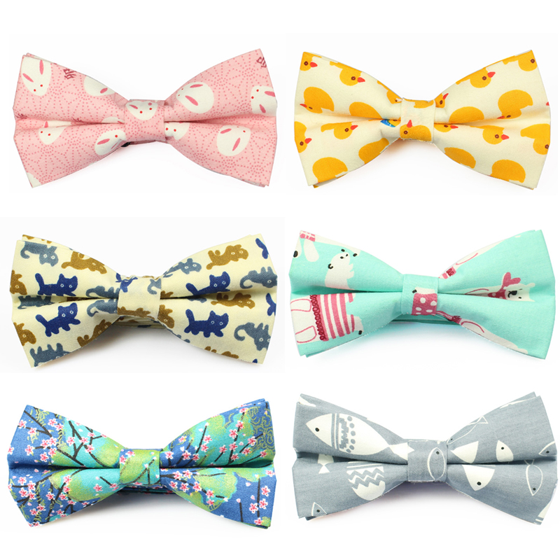 New Cotton Bowtie Brand Popular Carton Bow Ties Apparel Neckwear Casual Mens Business Bow Tie For Men Wedding 6cm Cravat