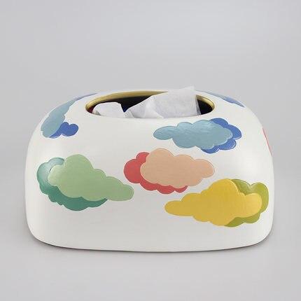 Скандинавская креативная ручная роспись коробка из керамической ткани персонализированное украшение для дома журнальный столик гостиная столовая хранение салфеток - Цвет: F